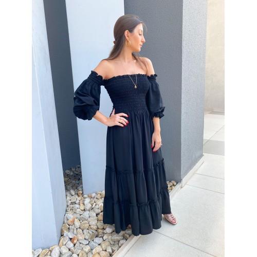 Vestido Marina Lastex Preto