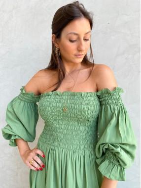 Vestido Marina Lastex Verde